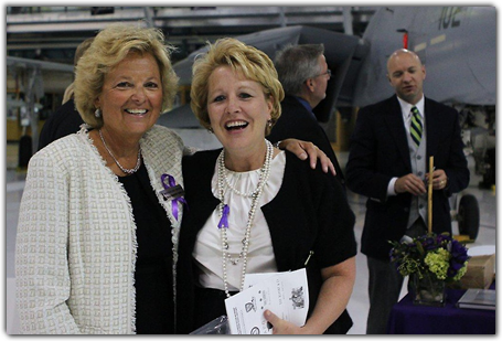 Event founder Maureen Shul, left, and Anne Ricker Cunningham