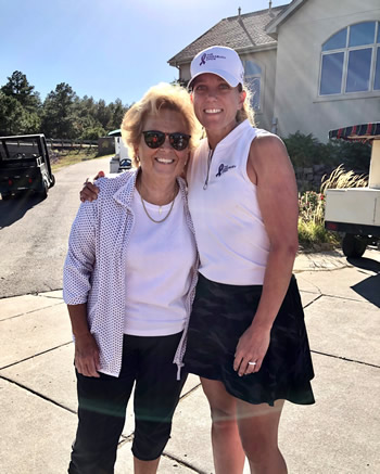 Founder of WINGS OF HOPE Maureen Shul with Kingsbury Open founder Lisa Goodman