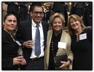 Cathy and Arturo Garcia, with WINGS OF HOPE board members Maureen Shul and Courtney Walsh