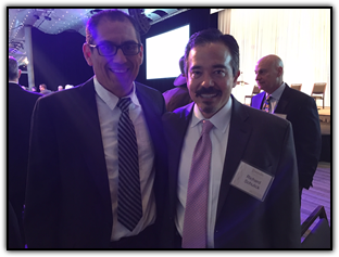 Artist and pancreatic cancer survivor Arturo Garcia and Dr. Richard Schulick