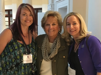 CEO of World Pancreatic Cancer Foundation Rhonda Hatfield, CEO of WINGS OF HOPE Maureen Shul and PanCan Action Network CEO Julie Fleishman