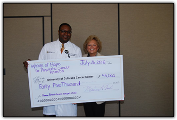Wings of Hope donation check