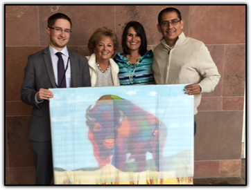 Jerry Sinning (CU Fund), Maureen Shul (Wings of Hope founder), Alissa West (University of Colorado Hospital) and Arturo Garcia