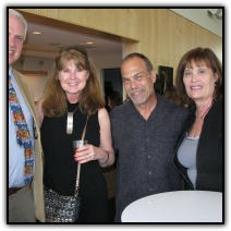 Pastor Dave Jensen, left, smiles with Debbie Coppola, Chip Coppola and Carol Ciluffo