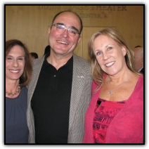 Carmel Scopelliti, left, with friends Jeff Cain and Stacy Ohlsson