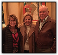 Event guests from California, Connie Via, Maureen Shul and Joe Via
