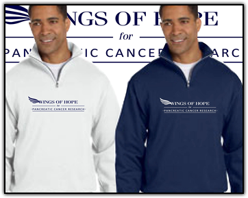 Wings of Hope for Pancreatic Cancer Research Sweatshirt