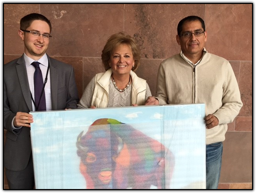 Jerry Sinning (CU Fund), Maureen Shul (Wings of Hope founder) and Arturo Garcia