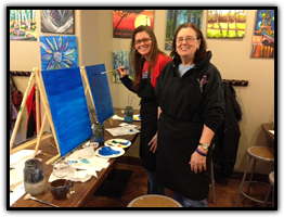 Sipping N' Painting Hampden Paint Night 3