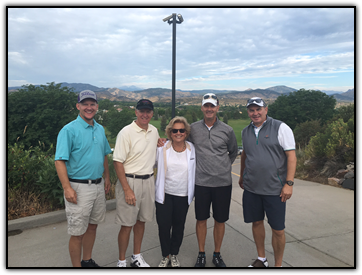 Representing WINGS OF HOPE in the tournament:  Scott Regan, Mick Roemer, Maureen Shul, Sam Realmuto, and David Seneshen