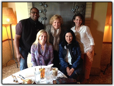 Dr. Colin Weekes, Stacy Ohlsson, Maureen Shul, Paula Sandoval and Melanie Avner
