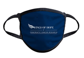 Wings of Hope for Pancreatic Cancer Hope Face Mask